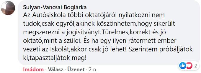 Vida Autósiskola Debrecen vélemények